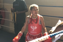 Sacha Lewis in the ring