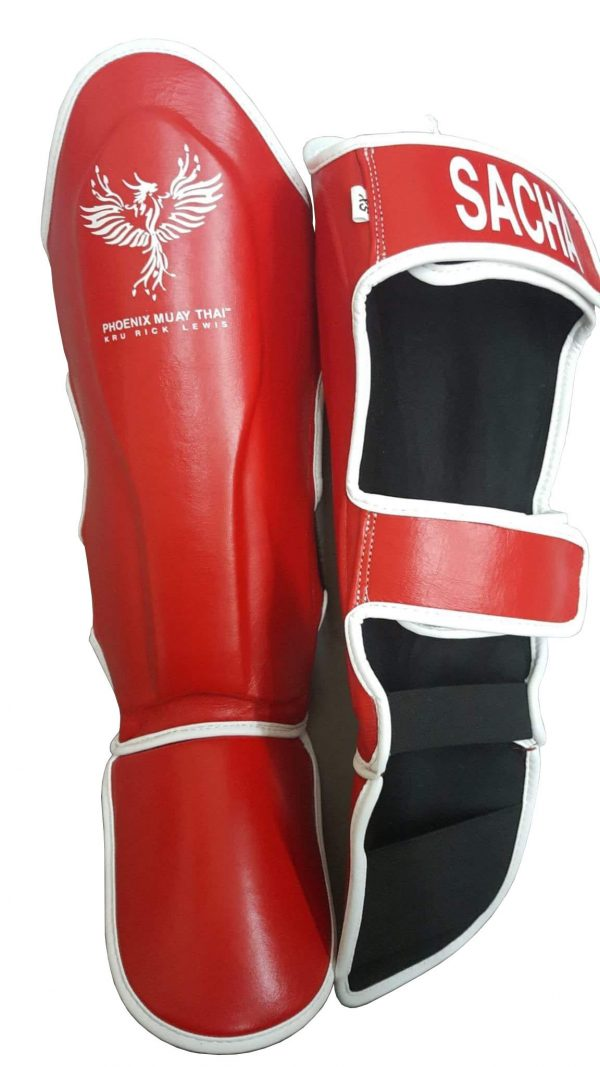 Leather Phoenix Muay Thai Shin Pads